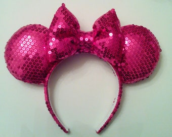 Pink Sequin Mickey Ears