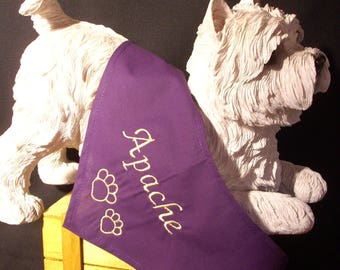 Bandana with personalized name dog L - XL - XXL
