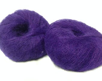 wool - Knitting / yarn kid mohair /cardinal/ made in France