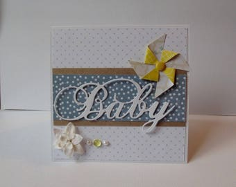 Congratulations Baby - Baby - and his birth card envelope