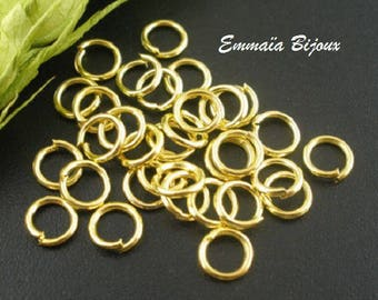 100 Gold 6 mm open jump rings
