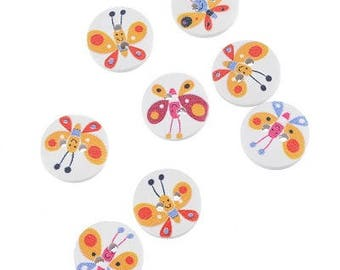 15 mm wooden bee button