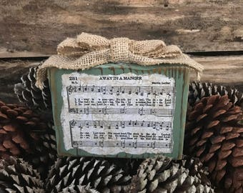 Christmas Paper Weight | Hymn Art | Short Christmas Carol