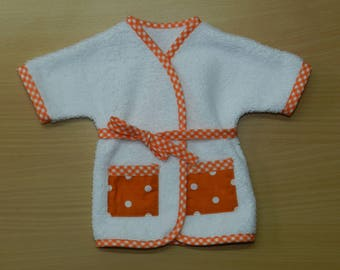 Garment, bathrobe Terry compatible doll Corolla 36 cm