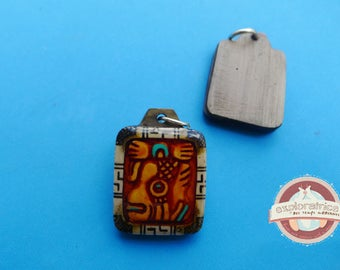 Pendant rectangle calendar maya 20x27mm