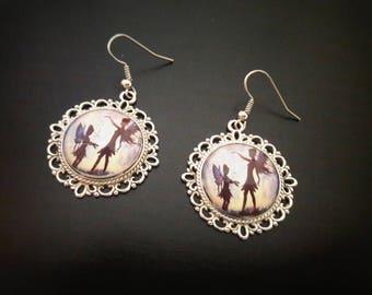 Fairy earrings fairy cabochon earrings