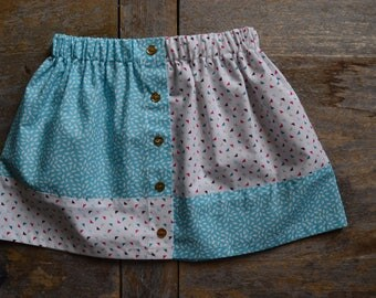 BI-material girl gathered skirt