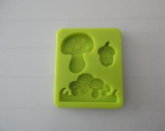Mushrooms for modeling shape silicone mold