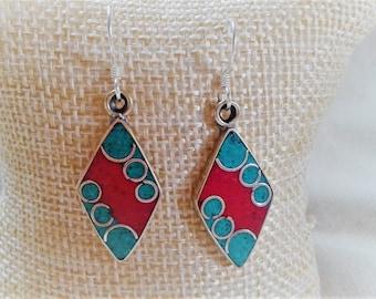 Ethnic earrings with stones