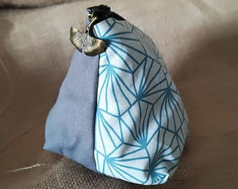 Vintage grey blue pouch