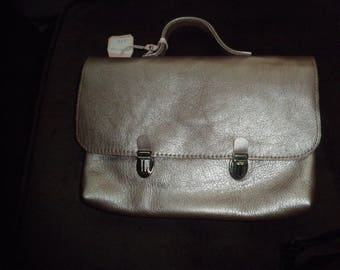 Pearly pink leather clutch bag for Tablet 7 and 8 inches