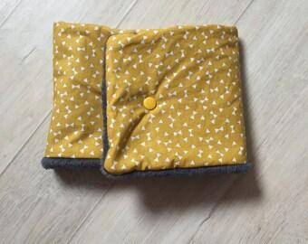 Snood / neck polar yellow mustard/grey