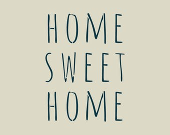 Home sweet home. Phrase stenciled (ref 265)