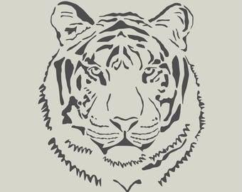 Tiger. Tiger head. Stencil adhesive vinyl (ref 134)