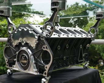 Table made of engine BMW V12
