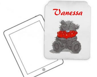 Cover for tablet pc Teddy bear personalized with name