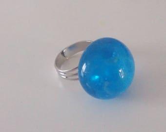 """Blue sky"" ring spun glass"