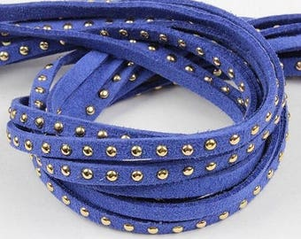riveted cord 5mm blue hard cord 98 cm (approx.)