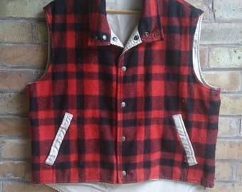 Vintage reversible checked gillet