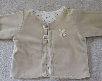 Velvet and cotton jacket