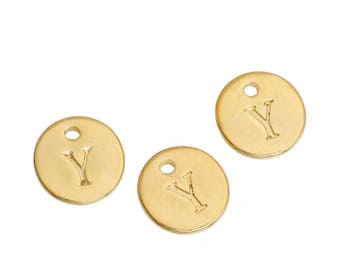 Letter Y - 12mm pendant gold gilt