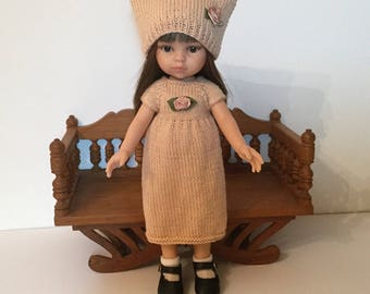 Dress and hat pink old doll Paola Reina