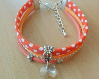 liberty bracelet and orange suede