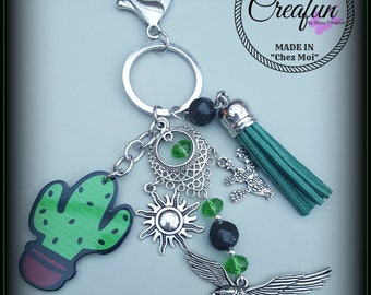 """bag charm """"a cactus in the desert"""""""
