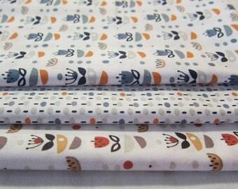 Set of 3 cut of fabric 50 cm * 50 cm