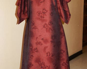 dress plus size Burgundy floral
