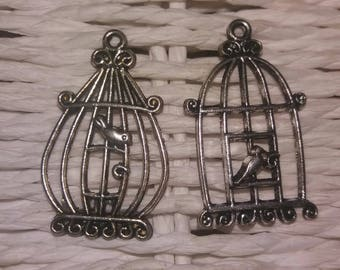 vintage style 2 with bird cage charms