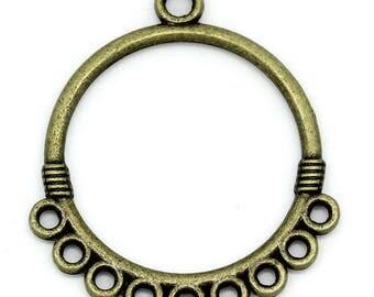 10 bronze 3.3 cm x 2.9 cm circle connectors