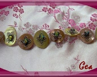 Bracelet button Pearl
