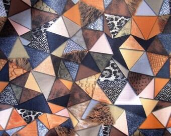 """PATCHWORK"" pattern mutlicolore PVC coated fabrics"