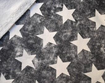 """China black SWEATSHIRT, white """"Stars"""" pattern fleece Interior"""