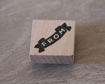 """WOODEN """"FROM"""" SCRAPBOOKING STAMP"""