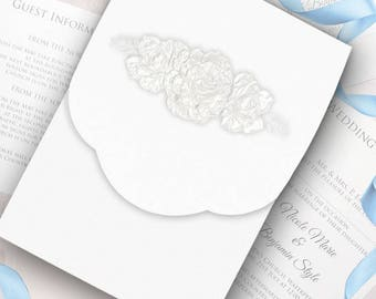 Intricate Rose Wedding Invitation