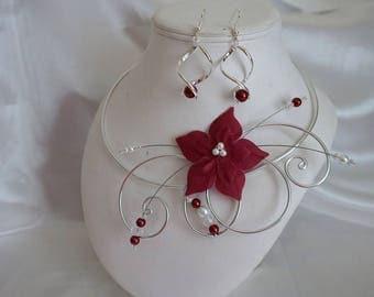 HERMIONE/Hurricane wedding set necklace & earrings