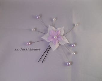 CELENA violet & white hair pins