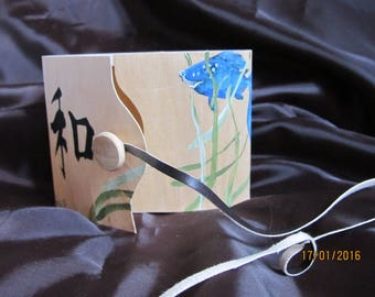 fine wooden box painted with acrylics