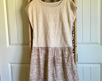Upcycled Recycled Repurposed Boho Tunic/Top/Dress LG