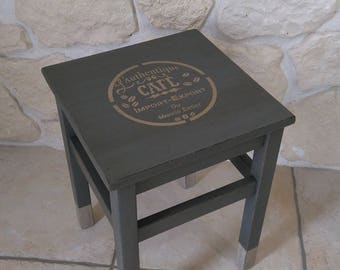 weathered old wooden stool