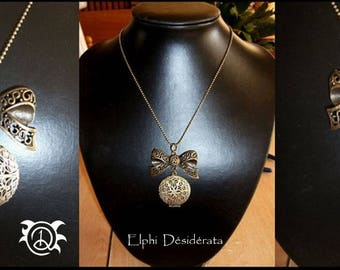 "Necklace ""picture holder"" women's fantasy style romantic"