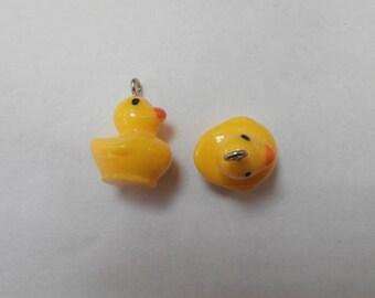 2 charms duck plastic 2 x 1.50 cm