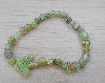 1 strand of glass beads assorted sizes as pictured