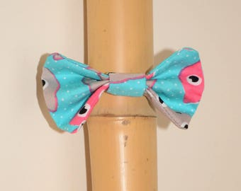 Blue cats with bow hair tie elastic