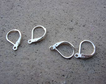2 pairs earrings 16mm 925 sterling silver Stud Earrings