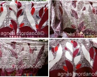 """Silk shawl """"Sonata"""" - wide 172X68cm - Merino nuno felted silk - kind """""""