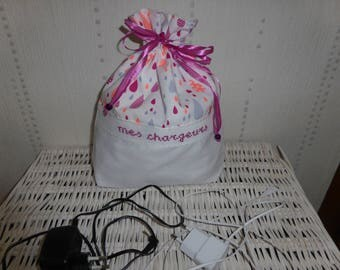 Bag for chargers, phone - Tablet - app. fuchsia photos