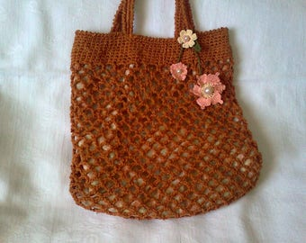 fully lined crochet bag
